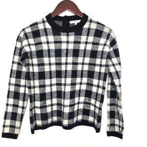 {Madewell} Merino Wool Checkered Pullover Blouse